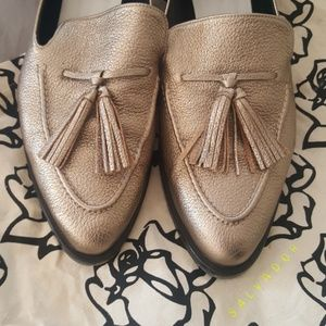 f3a870b37b2 Freda Salvador Shoes - Freda Salvador Chance Loafers - Gold Tassels!